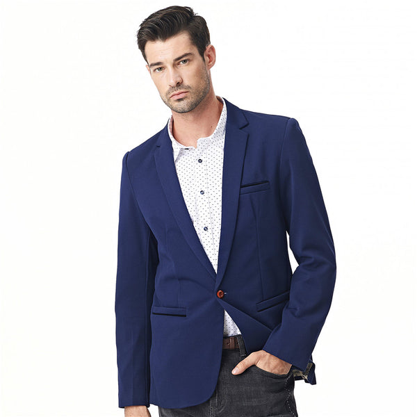 Casual Single Button Suit Male Solid Blazer
