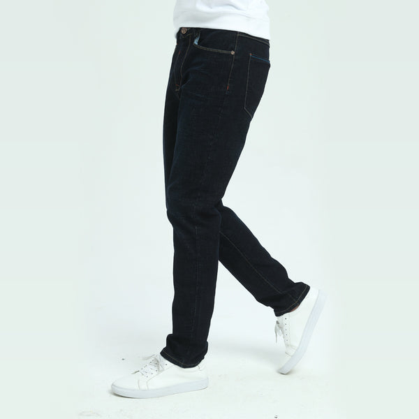 New Men's Black Jean - Slim Elastic - Black