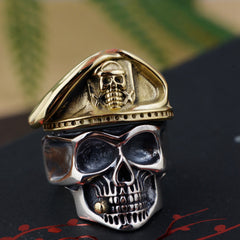100% Solid 925 Sterling Silver Skull Ring for Men