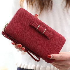 Purse bow Wallet - Many Colors