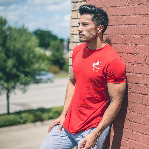 Crossfit Fitness Bodybuilding T-Shirt Red No1