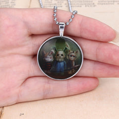 Halloween Rabbit Glow in Dark Pendant Necklace