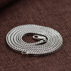 100% Pure 925 Sterling Silver Chain Necklace for Men