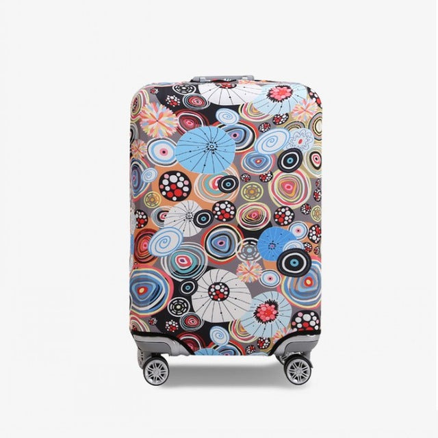 The Happy Circles - New elastic protective luggage cover