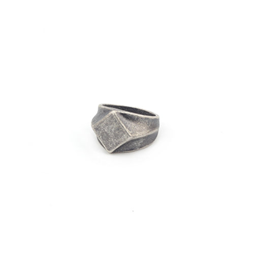 Square Finger Geometric Ring Stainless Steel