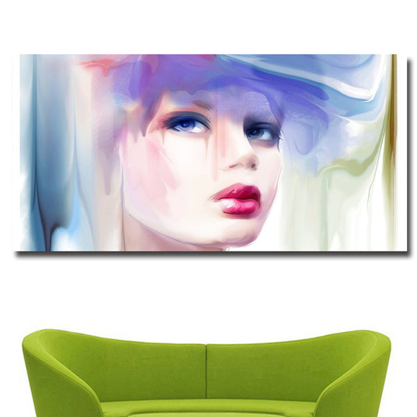 Colorful Beauty Girl Print on Canvas Painting No9
