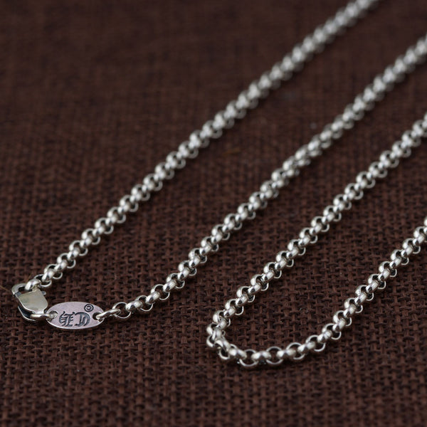 Unisex 100% Real 925 Sterling Silver Chain Necklace