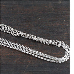 Unisex 100% Real 925 Sterling Silver Chain Choker Necklace