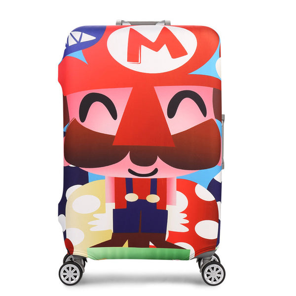 Super Mario - New elastic protective luggage cover