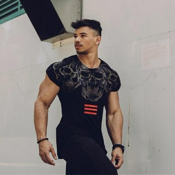Short sleeve cotton Creative Printed Bodybuilding Fitness T-Shirt no5