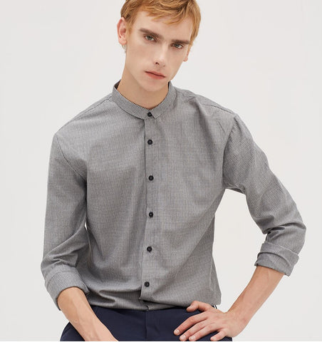 Gray Striped Men Shirt