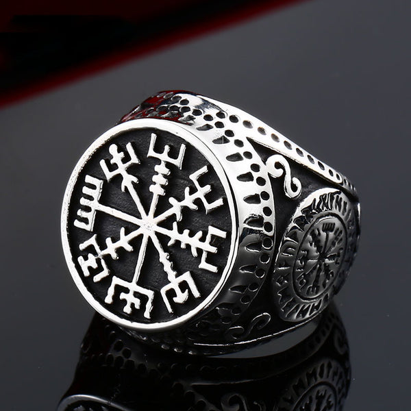 Stainless Steel Charm Norse Viking Rune ring