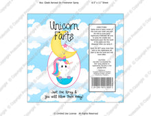 Unicorn Farts Spray Digital Label -  Instant Download (M214) Digital Air Freshener Graphics - PERSONAL USE Only