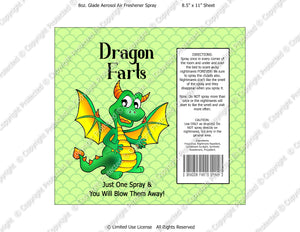Dragon Farts Spray Digital Label -  Instant Download (M215) Digital Air Freshener Graphics - PERSONAL USE Only