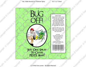 Bug Off Spray Digital Label -  Instant Download (M216) Digital Air Freshener Graphics - PERSONAL USE Only