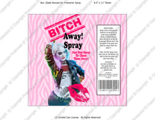 Go Away Bitch Spray Digital Label -  Instant Download (M217) Digital Air Freshener Graphics - PERSONAL USE Only