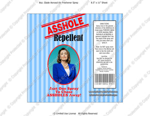Pelosi Digital Asshole Repellent Label -  Instant Download (M218) Digital Air Freshener Graphics - PERSONAL USE Only