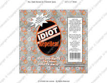 Bosses Digital Idiot Repellent Label -  Instant Download (M229) Digital Air Freshener Graphics - PERSONAL USE Only