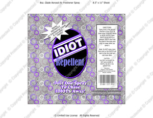 Inlaws Digital Idiot Repellent Label -  Instant Download (M229) Digital Air Freshener Graphics - PERSONAL USE Only