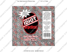 Neighbors Digital Idiot Repellent Label -  Instant Download (M229) Digital Air Freshener Graphics - PERSONAL USE Only