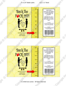 Digital Back Off Spray Label -  Instant Download (M243) Digital Bottle Label Graphics - PERSONAL USE Only