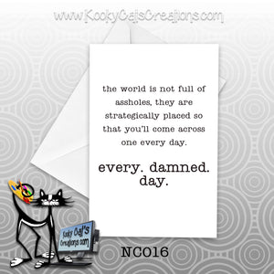 Strategically Placed (NC016) - Blank Notecard -  Sassy Not Classy, Funny Greeting Card