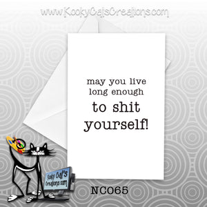 Shit Yourself (NC065) - Blank Notecard -  Sassy Not Classy, Funny Greeting Card