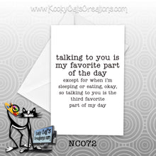 Talking To You (NC072) - Blank Notecard -  Sassy Not Classy, Funny Greeting Card