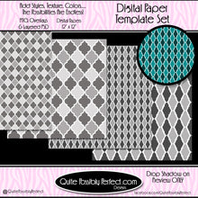 Digital Paper Template - Quatrefoil - Set 2 (PT114) CU Layered Overlay for Creating Your Own Digital Papers Commercial Use OK