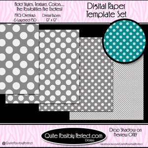 Digital Paper Template - Seeing Spots (PT127) CU Layered Overlay for Creating Your Own Digital Papers Commercial Use OK