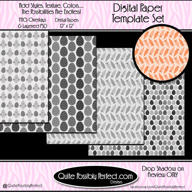 Digital Paper Templates - Easter Paper Templates (PTJC108) CU Layered Overlay for Creating Your Own Digital Papers Commercial Use OK