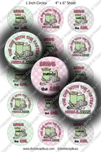 Digital Bottle Cap Images - Sewing Wisdom Collage Sheet (R1118) 1 Inch Circles for Bottlecaps, Magnets, Jewelry, Hairbows, Buttons1