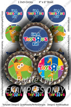 Digital Bottle Cap Images - Toys R Us Collage Sheet (R1132) 1 Inch Circles for Bottlecaps, Magnets, Jewelry, Hairbows, Buttons