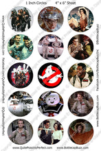 Digital Bottle Cap Images -  Ghostbusters Collage Sheet (R1139) 1 Inch Circles for Bottlecaps, Magnets, Jewelry, Hairbows, Buttons
