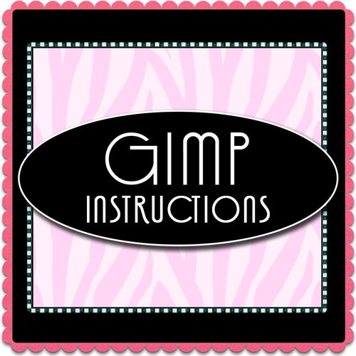GIMP Template Instructions