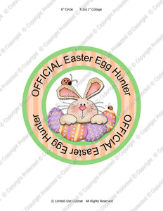 Official Egg Hunter Iron-On Transfer -  Instant Download JPEG (M170) Digital JPG Ready to Print on Transfer Paper or Sticker Paper