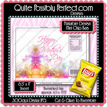 Digital Mother's Day Mini Chip Bag  -  Instant Download (M171) Digital Party Graphics - PERSONAL USE Only