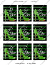 Digital Fabulous 40 Green 187ml Mini Wine Bottle Label  -  Instant Download (M165) Digital Party Graphics - PERSONAL USE Only