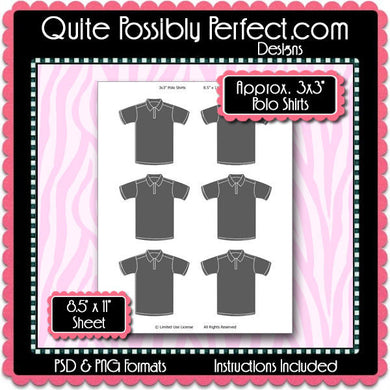 T Shirts Template Instant Download PSD and PNG Formats (Temp728) 8.5x11