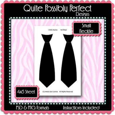 Small Necktie Template Instant Download PSD and PNG Formats (Temp329) Digital Bottle Cap Collage Sheet Template