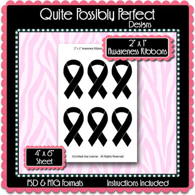 Awareness Ribbons Template Instant Download PSD and PNG Formats (Temp256) Digital Bottlecap Collage Sheet Template
