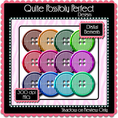 Digital Bright Stripes Button Elements Instant Download (C108)  for Scrapbooking, Collage Sheets,Greeting Cards, Bottle Caps
