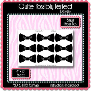 Small Bow Tie Template Instant Download PSD and PNG Formats (Temp246) Bow Tie Digital Bottlecap Collage Sheet Template