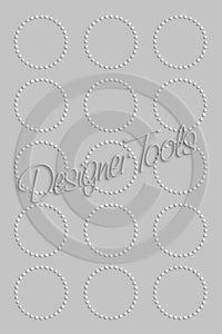 Bottle Cap Template Add-On Circle of Dots - Instant Download - PNG Format (TAO3) Digital Bottlecap Collage Sheet Template Designer Tools