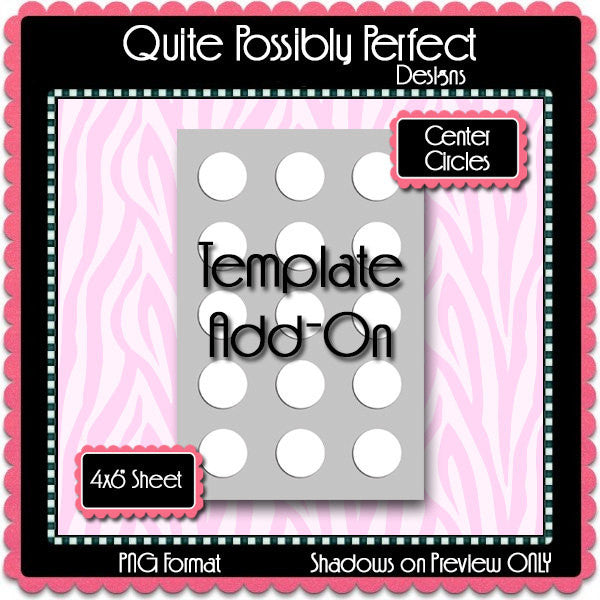 Bottle Cap Template Add-On Center Circles - Instant Download - PNG Format (TAO4) Digital Bottlecap Collage Sheet Template Designer Tools