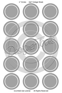 Bottle Cap Template Add-On Thin Rings - Instant Download - PNG Format (TAO8) Digital Bottlecap Collage Sheet Template Designer Tools