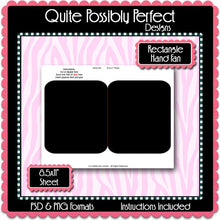 Digital Template - Rectangle Paddle Fan Instant Download PSD and PNG Formats (Temp458) Digital Bottlecap Collage Sheet Template