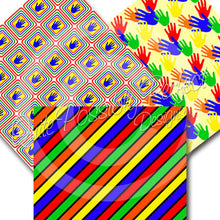 Digital Paper Pack Children School Instant Download (DGP119) Talk To The Hand for Scrapbooking, Collage Sheets,Greeting Cards, Bottle Cap