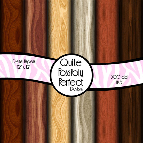 Wood Digital Paper Pack Instant Download (DGP122) Wood Grain for Scrapbooking, Collage Sheets,Greeting Cards, Bottle Cap