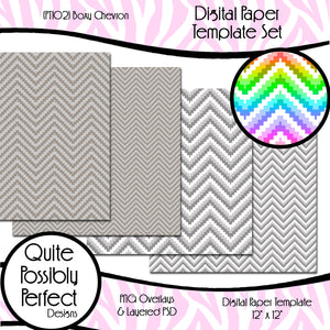 Box Chevron Digital Paper Template (PT102) CU Layered Overlay for Creating Your Own Digital Papers Commercial Use OK